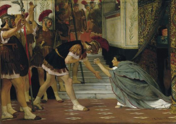 Alma-Tadema, Sir Lawrence: Proclaiming Claudius Emperor. Fine Art Print/Poster. Sizes: A4/A3/A2/A1 (003810)